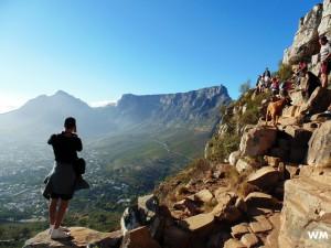 Tourists Hiking